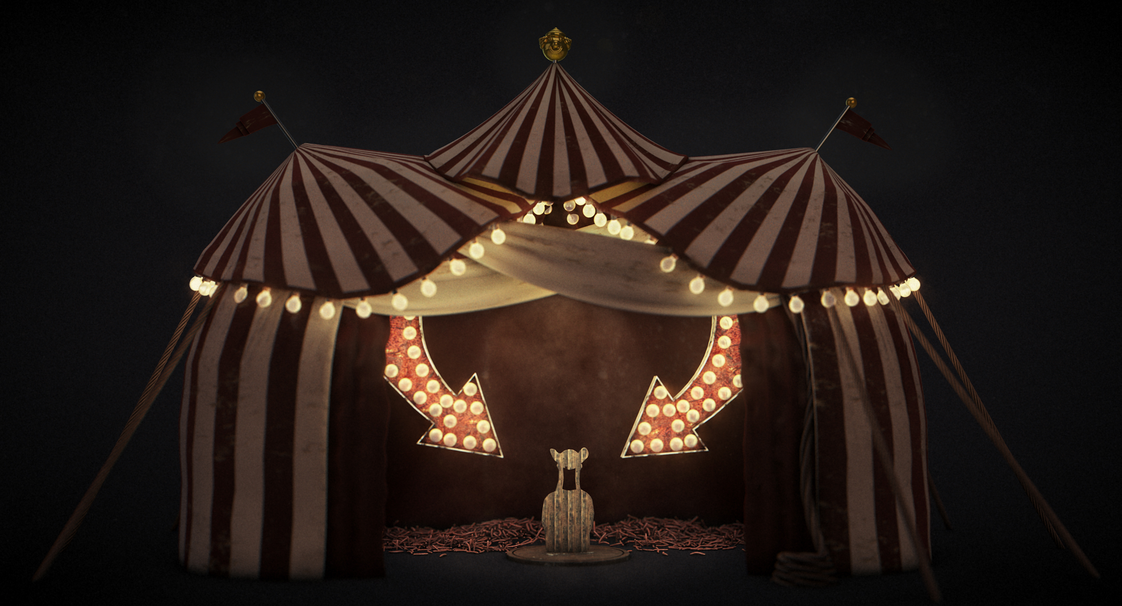 tent2 & Circus Tent: WIP | the process of events